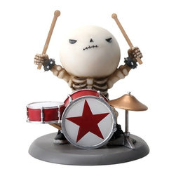 Summit - Lucky The Skeleton Rocking Out On His Drum Set - Rockband Figurine - This gorgeous Lucky The Skeleton Rocking Out On His Drum Set - Rockband Figurine has the finest details and highest quality you will find anywhere! Lucky The Skeleton Rocking Out On His Drum Set - Rockband Figurine is truly remarkable.
