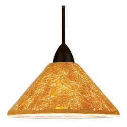 WAC Lighting - Micha Pendant - Canopy Mount - Hand crafted from pieces of crushed glass and glimmering with light in individually unique patterns and textures. Whether a sparkling, star lit sky, a warm summer's sun or the frost of an early winter's morning, the Micha family of shades brings the comforting warmth of nature into your home.