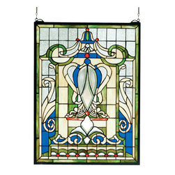 Meyda - 18 Inch W X 24 Inch H Royal Blue Windsor Window Windows - Color Theme: Beige Zasdy Lt Blue 59