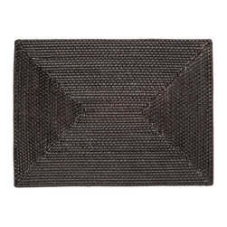 KOUBOO - Rectangular Rattan Placemat inEspresso, Set of 2 - This rattan placemat is hand woven in a tight, intricate weave initially created in the Philippines to ensure durability and beautiful longevity. Finished with a coating of lacquer in dark-brown for easy clean-up, this rectangular rattan placement is a beautiful addition to your table for family and guests alike.