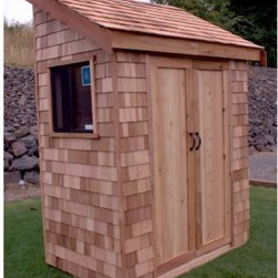 "Star Cedar Sheds 6 x 3 ft. Signature Storage Shed - Additional featuresInterior dimensions: 5.75W x 3.25D x 9.1H feetDoor dimensions: 2.75W x 6.25H feetWeight: 475 lbs.1-year limited warrantyPanelized sections of walls roof and floorCedar trim boards for Facia and cornersPre-built doorsIncludes all hardware and screws for assemblyIncludes plywood flooringIncludes easy-to-follow step-by-step instructional video Perfect for storing gardening tools small patio furniture or trash cans the Star Cedar Sheds 6 x 3 ft. Signature Storage Shed Kit will be ready for use in no time. The panels come ready-to-assemble with a few standard household tools. Much more attractive than your average shed this structure features Shakertown cedar shingle siding for extra charm. One panel features a functioning window and you can place the door on either a gable or eave end. Assembly is a weekend project for one or two people.Star Cedar sheds are made of natural environmentally-friendly materials that are made to last a lifetime. Western Red Cedar - often called ""the tree of life"" - is one of nature's most durable and long-lasting materials. The cedar used in these sheds is harvested from sustainable forests where it is regenerated wildlife habitats are preserved and the product is fully able to be recycled and reused. With more natural preservatives than virtually any other species cedar is resistant to insects rot decay and warping.Tools you'll needHammer4-inch or larger clamp(s)Concrete deck blocks or foundationTape measureScrew driver (powered)LadderStain or paint to finish About STAR Cedar ShedsSTAR Cedar Storage Sheds has been providing quality storage solutions for over twenty years with a focus on recycling and maximizing the utility of nature's most durable resource. And employees are committed to the ongoing preservation and enhancement of forest sustainability. STAR is owned by the Clarke Group of Companies a fully integrated forest industry company and supplier of fine cedar products."