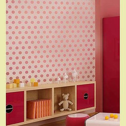 Polka Dot Allover Stencil - DIY spots on a wall, furniture or drapes with a polka dot stencil. It's a great way to get uniform spacing every time.