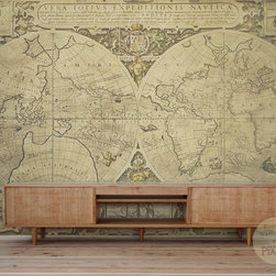 """Vintage World Map"" - Wall Mural by PIXERS - Self-adhesive wall mural, 90 x 60 inches. Other sizes and materials available on request on PIXERS' website"