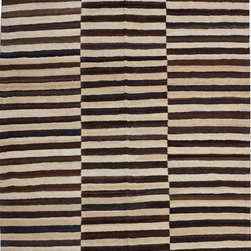 """ALRUG - Handmade Multi-colored Oriental Kilim  6' 7"""" x 10' (ft) - This Afghan Kilim design rug is hand-knotted with Wool on Wool."""