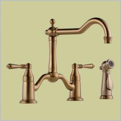 Brizo - Brizo - Tresa: Two Handle Bridge Kitchen Faucet With Spray -62536LF-BZ - Brushed Bronze Brilliance Finish