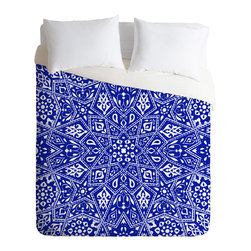 DENY Designs - Aimee St Hill Amirah Blue Duvet Cover - Turn your basic, boring down comforter into the super stylish focal point of your bedroom. Our Luxe Duvet is made from a heavy-weight luxurious woven polyester with a 50% cotton/50% polyester cream bottom. It also includes a hidden zipper with interior corner ties to secure your comforter. It's comfy, fade-resistant, and custom printed for each and every customer.