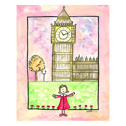 Oh how cute kids - Girl In London Ready to Hang Canvas Kid wall decor, 18 X 24 Canvas - I love to travel. Love, love, love to travel. I love everything about it - new food, new streets, new people - I think it is best to way to experience life. I thought about doing travel series for a while.