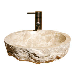 The Allstone Group - V-VR166-BE Emperador Light Polished Vessel Sink - Natural stone strikes a balance between beauty and function. Each design is hand-hewn from 100% natural stone.  Vessel sinks can be the most inspiring feature in a bathroom, adding style and beauty to any bath space.  Stone not only is pleasing to the eye but also has the feel of something natural and solid.
