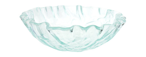 Eden Bath - Eden Bath GS11 Clear Freeform Wave Glass Vessel Sink - This glass vessel sink from Eden Bath is made of high quality tempered glass. Eden Bath specializes in unique glass vessel sinks that you won't find anywhere else. Many glass sinks feature hand painted finishes embedded in the glass which can not be compared to your run of the mill glass vessl sink. We recommend that you also purchase a mounting ring and drain with your glass sink in the same finish of your faucet.