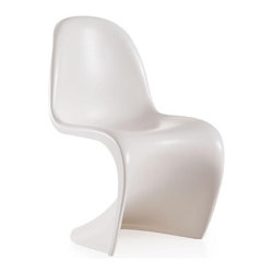 Candelabra Kids Chair-White - Light weight and durable, this children's chair adds curves to any setting. This chair compliments all spaces in need of a glossy shine.