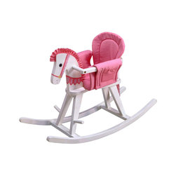 Teamson Kids - Baby-to-Kids White Painted Wood Convertible Rocking Horse - This  Baby-to-Kids White  Wood Convertible Rocking Horse by Teamson Kids will find the perfect nook in every toddlers heart, (and room)! Better yet...it will grow along with the baby, making a very useful gift to give at a baby shower too! Not only is it a rocking bassinet, but as the child grows he is also able to use it as a rocking horse. Just remove the railing and voila! It transforms into a beautiful wooden rocking horse.  Dimensions: L 34.5 X W 12.5 X H 22.5