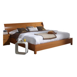 ESF Furniture - 114 Storage Platform Bed with Wooden Headboard and Slat Frame - ESF, Queen - This wonderful Storage Platform Bedroom from 114 Collection By Benicarlo Furniture, Spain offers a stunning, contemporary design that is perfect for today's modern home.