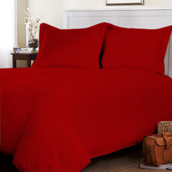 Egyptian Cotton Flat Sheet Wth Duvet Cover 800 TC Solid (Queen, Blood Red) By Fa - This is 1 Flat sheet (90 x 102 inches) and 1 Duvet Cover (88x88 inches) only.