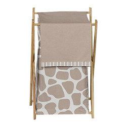 Sweet Jojo Designs - Giraffe Laundry Hamper by Sweet Jojo Designs - The Giraffe Laundry Hamper by Sweet Jojo Designs, along with the bedding accessories.