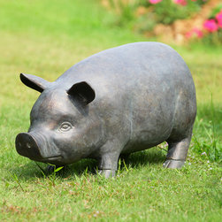 Perky Pig Garden Sculpture with Bluetooth Speakers - Shipping is included in the price!