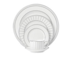Vera Wang - Vera Wang Wedgwood Radiante Formal 5-Piece Place Setting - Vera Wang Wedgwood Radiante Formal Dinnerware is appointed with fine platinum detailing over subtle, pearlescent mica rims. Radiante fine bone china takes a modern approach to this classic style.