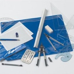 Alvin Architects Drafting Kit - What We Like About This Architect's Drawing Kit Essentially this kit is all you will be asked to purchase when starting a class in architectural drawing. Making one simple purchase eliminates the headache of hunting for each item individually and gives you a great pouch that holds everything securely and conveniently. Also great for stocking the supplies of professionals.