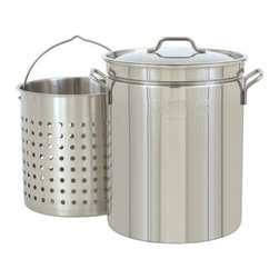 Barbour International - Bayou Classic 44-Quart Stainless Steel Stockpot - Features: