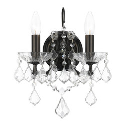 Crystorama - 4452-VZ-CL-SAQ Crystorama Filmore - Grace never goes out of style. Filmore is a collection designed for today, tomorrow and everyday. It features modern hand-painted finishes, graceful lines and updated crystal shape. This collection takes the notion of Maria Theresa chandeliers beyond trad A passion for perfection has made Swarovski the world leader in the production of cut crystal. Swarovski & CO., manufacturer of Swarovski Elements, has created a new alternative quality crystal. Swarovski has used advanced technology with old world knowledge to produce a brilliant crystal with precision cutting and superior light reflection. This crystal type is designed for a crystal connoisseur demanding quality at an affordable price.