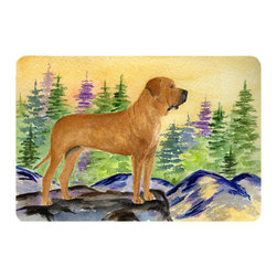 Caroline's Treasures - Tosa Inu Kitchen or Bath Mat 24 x 36 - Kitchen or Bath Comfort Floor Mat This mat is 24 inch by 36 inch. Comfort Mat / Carpet / Rug that is Made and Printed in the USA. A foam cushion is attached to the bottom of the mat for comfort when standing. The mat has been permanently dyed for moderate traffic. Durable and fade resistant. The back of the mat is rubber backed to keep the mat from slipping on a smooth floor. Use pressure and water from garden hose or power washer to clean the mat. Vacuuming only with the hard wood floor setting, as to not pull up the knap of the felt. Avoid soap or cleaner that produces suds when cleaning. It will be difficult to get the suds out of the mat.