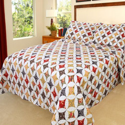 Lavish Home - Lavish Home Cassandra Quilt Set Multicolor - 66-10006-T - Shop for Bedding Sets from Hayneedle.com! Bold colors and a classic diamond and circle quilt pattern give the Lavish Home Cassandra Quilt Set its charm. Soft polyester with a cotton-and-polyester blend fill make it comfy year round. This quilt set includes one matching pillowcase with the twin size and two for all other sizes.Dimensions:Twin: 68 x 86 in.Full / Queen: 86 x 86 in.King: 101 x 86 in.About Trademark Global Inc.Located in Lorain Ohio Trademark Global offers a vast selection of items for your home and lifestyle. Whether you need automotive products collectibles electronics general merchandise home and garden items home decor housewares outdoor supplies sporting goods tools or toys Trademark Global has it at a price you can afford. Decor items and so much more are the hallmark of this company.
