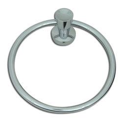 Atlas Homewares - Polished Chrome Delano Towel Ring (ATHDPTRCH) - Polished Chrome Delano Towel Ring