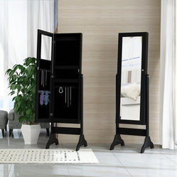 Corner II - Corner II Nordic Midnight Mirror Armoire in Black - Mirror Armoire in Black belongs ...