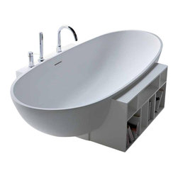 WS Bath Collections - WS Bath Collections Egg 20 EG 2002 Bathtub - Egg 20 Eg 2002 Free Standing Bathtub by Wes Bath Collections, 67.1 x 39.4 x H 18.9