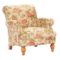 Broyhill - Chloe Traditional Curved Back Accent Chair - 014796-0Q - Materials: Solid wood frame