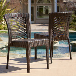 Christopher Knight Home - Christopher Knight Home Dusk Outdoor Wicker Chairs (Set of 2) - Update your deck or patio with this set of outdoor wicker chairs. Featuring a sturdy design of PE wicker and an iron frame,these seats will give your outdoor space a classic look and have a long-lasting,durable design to withstand the elements.