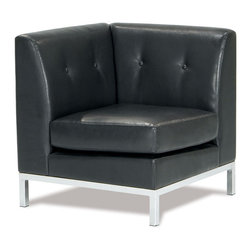 Avenue Six - Wall Street Corner Chair In Espresso Color - The Wall Street collection by Avenue Six provides a sound investment for those who take stock in high fashion design and unsurpassed seating comfort. The collection includes sleek modular components that can be used as stand alone pieces or combined with others to create a loveseat or sofa. A right arm facing chair, left arm facing chair and armless chair give you the options to fashion the size and style best suited for your home or office. Like other quality RTA furniture by Avenue Six, the Wall Street collection is indistinguishable from traditional, more costly casegoods once fully assembled.