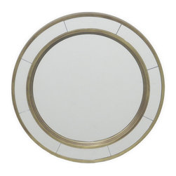 Gold Round Wall Mirror - This beautiful gold trim wall mirror has the power to transform a room by lending elegant warmth and decorative style to your home.