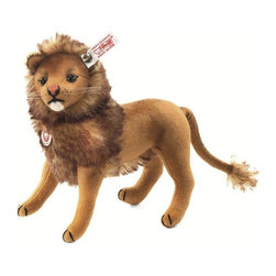 Steiff - Steiff Leo Lion - Teddy bears aren´t the only residents of Paradise Jungle. There´s also the lion, king of all the beasts. This Classic Steiff piece looks like something out of the past. His felt covering hearkens back to an earlier era at the company, when felt animals were commonplace. Steiff Leo Lion has a tipped mohair mane and tail along with a black embroidered muzzle and paw pads. Steiff Leo Lion has airbrushed details on the orange embroidered nose, eyes, bottom lip, face, and body. His head is jointed and his legs are wired so he can stand. No collection is complete without the king of Paradise Jungle, our gorgeous, nostalgic Leo lion. Handmade in Germany and limited to only 1,500 pieces.