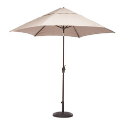 Zuo Modern - Zuo Modern South Bay Outdoor Dining Umbrella X-230307 - Enjoy a refreshing cocktail in the shade with the South Bay Table Set. The umbrella is UV and water resistant fabric.