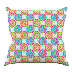 """Kess InHouse - Apple Kaur Designs """"Bombay Dreams"""" Blue Green Throw Pillow (16"""" x 16"""") - Rest among the art you love. Transform your hang out room into a hip gallery, that's also comfortable. With this pillow you can create an environment that reflects your unique style. It's amazing what a throw pillow can do to complete a room. (Kess InHouse is not responsible for pillow fighting that may occur as the result of creative stimulation)."""