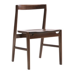 Commonhouse Furniture - Quartet Chair - This solid walnut chair is the epitome of contemporary superior design, and will look right at home pulled up to your dining table. With a water-resistant, low-sheen lacquer finish, this chair is both sturdy and stylish. The simple linear form of this chair is breathtaking.