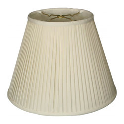 Royal Designs, Inc. - Deep Empire Side Pleat Basic Lampshade - This Deep Empire Side Pleat Basic Lampshade is a part of Royal Designs, Inc. Timeless Basic Shade Collection and is perfect for anyone who is looking for a traditional yet stunning lampshade. Royal Designs has been in the lampshade business since 1993 with their multiple shade lines that exemplify handcrafted quality and value.