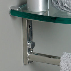 """Attrazione Modern Glass Bathroom Vanity With Frosted Edge Mirror - This simply constructed jewel tone chrome stand and gently sloping tall clear glass basin are ideal for simple living with a touch of class and modern charm.  Versatile for any d?cor.  Quietly interesting and chic without being disruptive.  Dimensions of Vanity:  28.75""""W x 18.25""""D x 34.25""""H. Dimensions of Mirror:  24""""W x 31.5""""H. Materials:  Tempered Glass Countertop/Vessel Sink, Stainless Steel. Single Hole Vessel Faucet Mount (Faucet Shown In Picture May No Longer Be Available So Please Check Compatible Faucet List). P-trap, Faucet, Pop-Up Drain and Installation Hardware Included"""