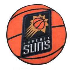 Fanmats - NBA Phoenix Suns Rug Basketball Shaped Mat - FEATURES: