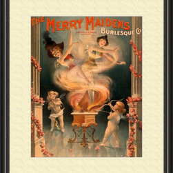 Merry Maidens Artwork - World-class Giclee print Printed on archival quality paper guaranteed not to fade for 200 years! Hand-assembled wood frame Manufactured in the USA