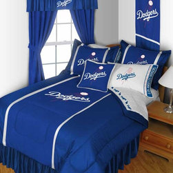 "MLB Los Angeles Dodgers Bedding and Room Decorations - Whether game day or a regular night's sleep, make your room shout ""A true Los Angeles Dodgers fan lives and sleeps here!"" We have a wide range of bedding and room decor products that will make quite an impression. Click the link below to view all items available for purchase."