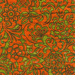 "Loloi Rugs - Loloi Rugs Aria Collection - Orange / Lime, 3'-0"" x 3' Round - Expressive and relaxed, stylish and fun. The Aria Collection from India has it all. Pretty paisley patterns, flourishing flowers, dreamy damasks and magical medallion designs are printed onto 100% recycled cotton Chindi for scatter rugs that are flirty and fashionable. Dressed in a palette of bold, saturated colors that take you from cool blues and pinks to warm spice tones and modern tropical hues, too, Aria rugs come in select scatter sizes that will accent choice spaces with flair."