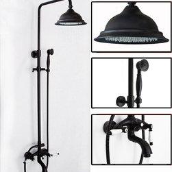 Procelian Handles Oil Rubbed Bronze Bar Shower Mixer Faucet Set K88-2 - Specification: