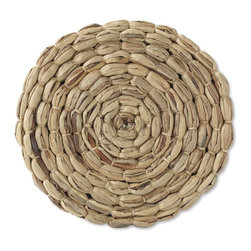 Water Hyacinth Charger - A pretty place setting starts with layering. I would use these natural, woven chargers under each plate to create a casual feel.