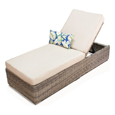 TKC - Royal Vintage Stone Sunbrella Outdoor Patio Chaise Lounge - Features: