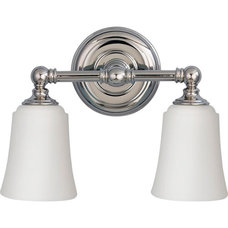 Huguenot Lake Polished Nickel Two Light Bath Fixture Murray Feiss 2 Light Bathro