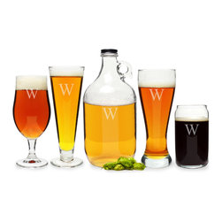 None - Personalized Craft Beer 5-piece Party Glassware Set - Ideal for any brew lover's home or wet bar collection,this custom engraved 5-piece Party Glassware Set has a glass to cover every beer connoisseur's taste palate. These drinking glasses are intentionally designed to enhance the taste of most beers.