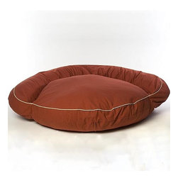 Frontgate - Small Classic Twill Bolster Bed Dog Bed - Overstuffed with soft, resilient poly fiberfill (no harsh cedar chips). Protects walls and furniture from the oil in your pet's coat. Heavyweight cotton twill cover removes for laundering. Cord-trimmed neutral colors blend with most any decor. Ideal for use as either a dog bed or cat bed. Our Classic Bolster Pet Bed will serve as a welcome comfort for your four-legged companion. This luxury pet bed conforms to your dog's body and insulates against the cold.. Protects walls and furniture from the oil in your pet's coat. . . . Minor assembly required.