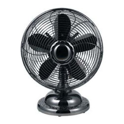 OPTIMUS - Optimus F6212 Black Table Fan 12 Inch Oscillating Antique 3-Speed - Optimus F6212 Black Table Fan 12 Inch Oscillating Antique 3-Speed