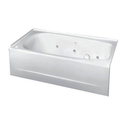 American Standard - American Standard Cambridge 5' Americast Whirlpool (2461.028WC.020) - American Standard 2461.028WC.020 Cambridge 5' Americast Whirlpool with EverClean, White